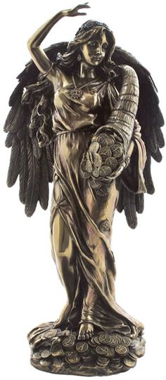 Large Lady Fortuna- Goddess of Fortune and Luck Statue Sculpture Figurine from the Greek and Roman Reproduction Art Sculpture Collection available at AllSculptures.com