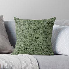 Lush Green, Green And Purple, Green Grass, Yellow Throw Pillows, Natural Pillows, Fun Illustration, Abstract Nature, Nature Prints, Designer Throw Pillows