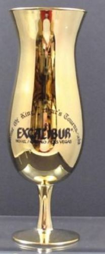Vintage-EXCALIBUR-Hotel-Vegas-Original-Ad-Gold-Hurricane-Glass-1-of-2-avail