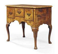 A GEORGE I WALNUT SIDE TABLE CIRCA 1720