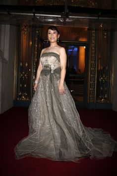Chaomei Chen in a Carolina Herrera sparkling olive gown during the San Francisco Ballet 2015 Opening Night Gala in San Francisco, Calif. on Thursday, January 22, 2015. Photo: Scott Strazzante, The Chronicle