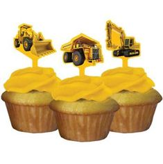 Construction Cupcake Picks