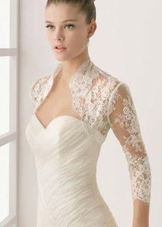 Sleeveless bridal keyhole back alencon lace bolero - Lace_092 ...
