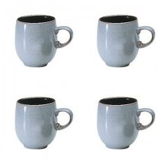 Denby Jet Grey Large curve mug VALUE PACK - Tableking $132.99