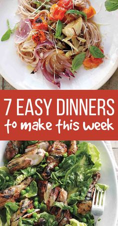 7 easy and delicious recipes to get you through the week. You're welcome.