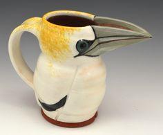 Gannet Jugbird  Gillian McMillan 2016 Earthenware, Stoneware, My Images, Mugs, Tableware, Dinnerware, Tumblers, Tablewares, Mug