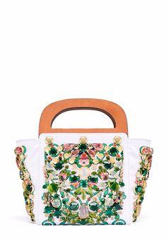 Tory Burch Embellished Small Bermuda Bag