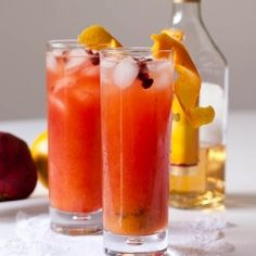 Tequila Sundown - made with Tequila, orange juice and pomegranate juice, the perfect Valentine's Day cocktail.