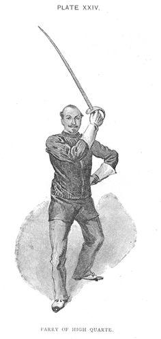 Hutton - Saber Parry in High Quarte