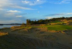 Golf Hole #3 Par 3 Chambers Bay WA.