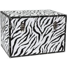 Faux Leather Zebra Trunk