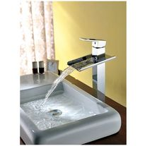 91.97$  Buy here - http://alihvh.worldwells.pw/go.php?t=2033654364 - Bathroom L-1 Waterfall Faucet 2014 Sink Basin Mixer Water Tap Torneira Pia Chrome Vanity  Vessel Sinks Mixers Taps Faucets