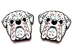 English Bulldog Earrings