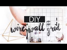 DIY Wire Grid Memo Board (Wall Grid Board) | SUPER EASY | beautybitten - YouTube