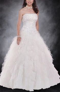 Floor-length Strapless Sleeveless White Wedding Gowns  Style Code: 00254  US$229.00  Click here for this wedding dress: http://www.outerinner.com/floor-length-strapless-sleeveless-white-wedding-gowns-pd-00254-13.html#  #WeddingDresses #bride