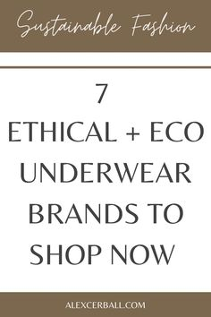 These sustainable, ethical, and eco underwear brands feature styles you'll want to slip into right now. When shopping for underwear, why compromise on comfort? We practically live in our undies; they should feel good all day. Whether you're looking for every day, flattering or pretty styles, shop these consciously made undergarments. Designed in Australia for women who love comfort and style.