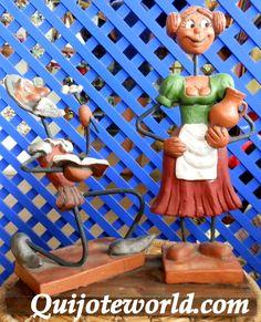 Figuras Don Quijote de la Mancha. Figuras de cerámica, figuras de barro y mucho más para la decoración de interiores. Piezas únicas hechas a mano, artesanía irrepetible  www.quijoteworld.com