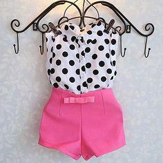 new summer girls clothing sets girl baby clothes polka dot coat + pink pants baby clothing(China (Mainland)) Baby Outfits, Short Outfits, Toddler Outfits, Kids Outfits, Short Dresses, Summer Outfits, Winter Outfits, Winter Dresses, Dress Outfits