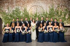 Elegant Navy New York Wedding From Lindsay Madden | Black bridal ...