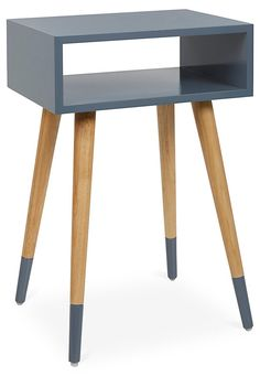 Mateo Dipped Side Table, Elephant Gray | Quick Ship Furniture | One Kings Lane