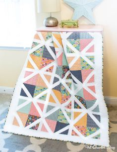 Fat Quarter Style Birthday Celebration: Lattice Quilt