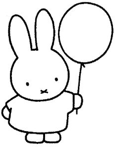 We all love this Nijntje/Miffy character from Dick Bruna. I especially remember the nice stories and the fun things Nijntje/Mi. Bunny Coloring Pages, Cartoon Coloring Pages, Coloring Pages For Kids, Coloring Books, Miffy Cake, Rabbit Drawing, Doodles, Balloon Animals, Pooh Bear