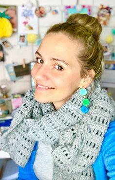 Bufanda de ganchillo: patrón de ganchillo simple para una bufanda con video - Bufanda de ganchillo: patrón de ganchillo simple para una bufanda con video Imágenes efectivas que - Basic Crochet Stitches, Easy Crochet Patterns, Craft Patterns, Stitch Patterns, Easy Knitting, Knitting Yarn, Knitting Projects, Crochet Projects, Knitting Ideas