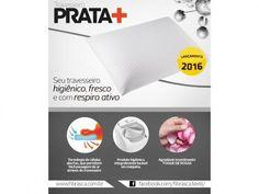 Travesseiro Prata + - Fibrasca com as melhores condições você encontra no Magazine Siarra. Confira!