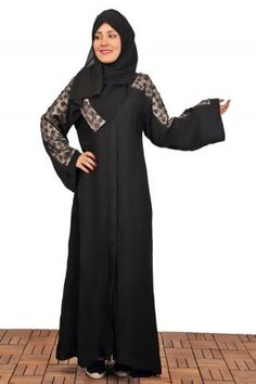 Light Abaya  Description:. black abaya decorated on shoulders , it has many attracted colors and openable .