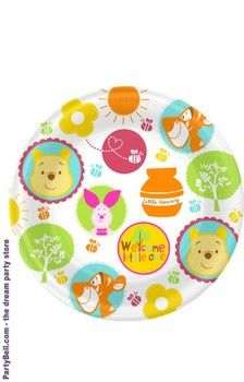 Disney Pooh Little Hunny Bunny Baby Shower Dinner Plates  $4.10