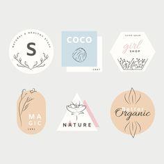 Natural business logo collection in minimal style Web Design, Best Logo Design, Creative Design, Design Trends, Logo Branding, Typography Logo, Branding Design, Fashion Typography, Corporate Branding