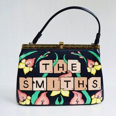 The Smiths In Tile Handbag Vintage And Hand Painted