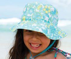 Flap Happy Kids Baby Cotton Print Floppy Wide Brim Soft Hat Ladybug Flowers M