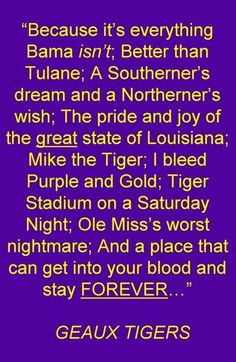 LSU   lsu football graphics and comments