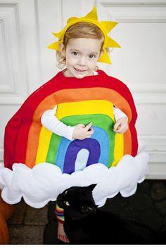 dbda1cac63 The cutest  handmade  Halloween  Rainbow  costume ever!!!