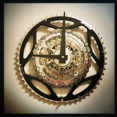 black is the new black  or at least it is in the Bike Gear Wall Clock!  exceptional quality, original designs, recycled materials, and top of the line components, that's Dream great dreams. saving the planet one clock at a time.