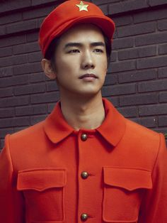 Mao's New Suit by Vikk Shayen Trends Magazine, Mens Suits, Red And Blue, Asian, Mens Fashion, Unisex, Hats, Buttons, Clothes