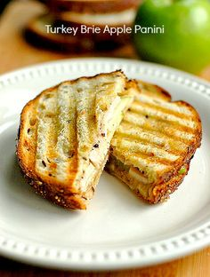 Turkey Brie Apple Grilled Sandwich.—a delicious spin on the classic grilled cheese!