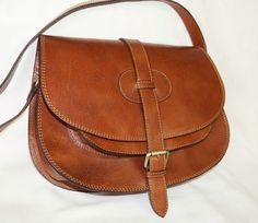 goldmann xl medium brown leather bag leather by chicleather on Etsy, $140.00