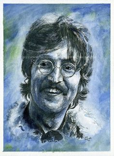 John Lennon / The Beatles - Watercolor and Ink by NateMichaels on DeviantArt