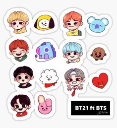 Pegatina BT21 ft BTS