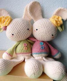 Mesmerizing Crochet an Amigurumi Rabbit Ideas. Lovely Crochet an Amigurumi Rabbit Ideas. Easter Crochet, Crochet Bunny, Love Crochet, Crochet Animals, Crochet Crafts, Crochet Dolls, Yarn Crafts, Crochet Projects, Knit Crochet