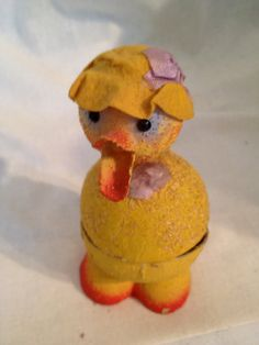 Vintage Easter Duck Candy Container Paper Mache -  avintagerevolution, etsy