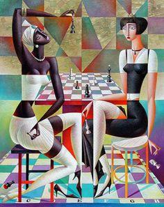 ( 20 Vibrant Cubist Art works and Illustrations by Georgy Kurasov ) Art And Illustration, Cubist Art, Abstract Art, Modern Art, Contemporary Art, Art Moderne, Art Design, Surreal Art, Fine Art
