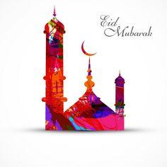 mosque for grunge colorful eid mubarak card vector illustration Eid Mubarak Hd Images, Eid Mubarak Pic, Mubarak Ramadan, Eid Mubarak Wishes, Eid Mubarak Greeting Cards, Eid Mubarak Greetings, Eid Cards, Happy Eid Mubarak, Eid Images
