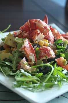 A healthy Lobster Salad would make a great Mother's Day appetizer! Plus-it makes you feel like it is almost summer!