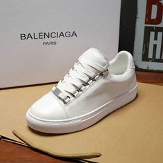watch 6b22f f7f86 Cheapest Balenciaga Low Skate Sneakers Rubber Sole 2018 Spring Summer White  Balenciaga Low Sneakers, White