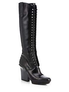 3.1 Phillip Lim - Juno Lace-Up Patent Leather Knee-High Boots