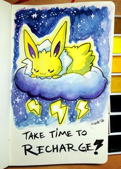 Round 5 of watercolors! Inspirational eeveelution #3. Vaporeon likes to rock the boat. Guys I took video this time. If we're lucky I'll upload it on Monday. Tools: Moleskine Art Pad, Sa...