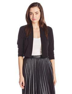 Calvin Klein Women's Basic Cardigan, Black, Small